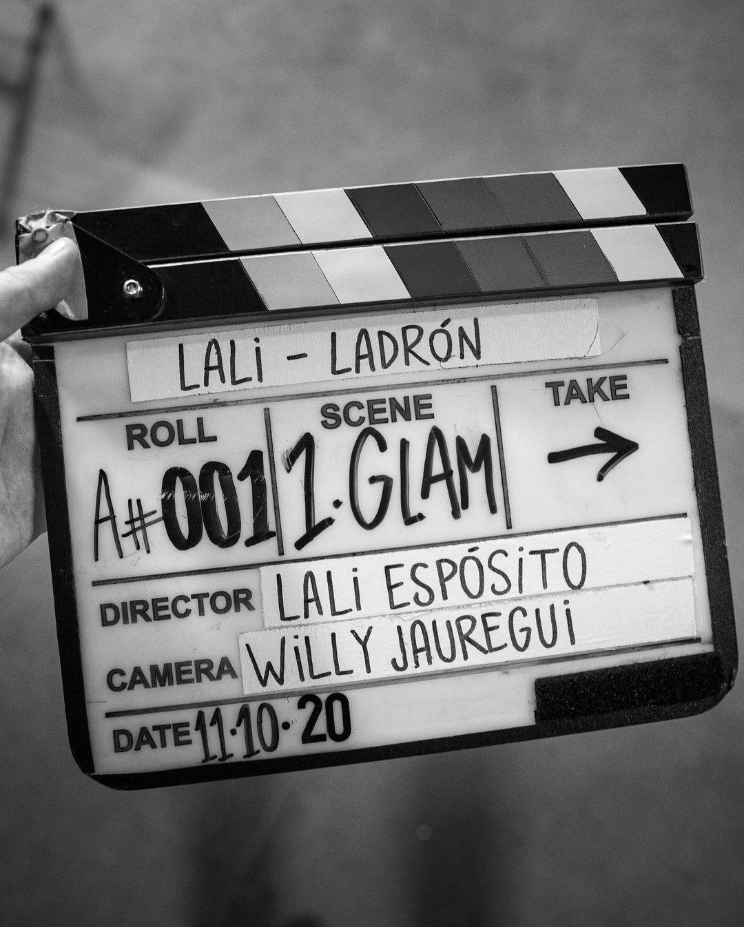 Photo partagée par Lali Espósito au milieu du tournage.