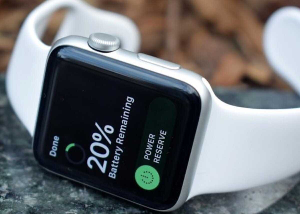 Chargement de l'Apple Watch