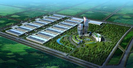 Wzmh Architects China Mobile Data Center Rendu aérien Honhot Harbin