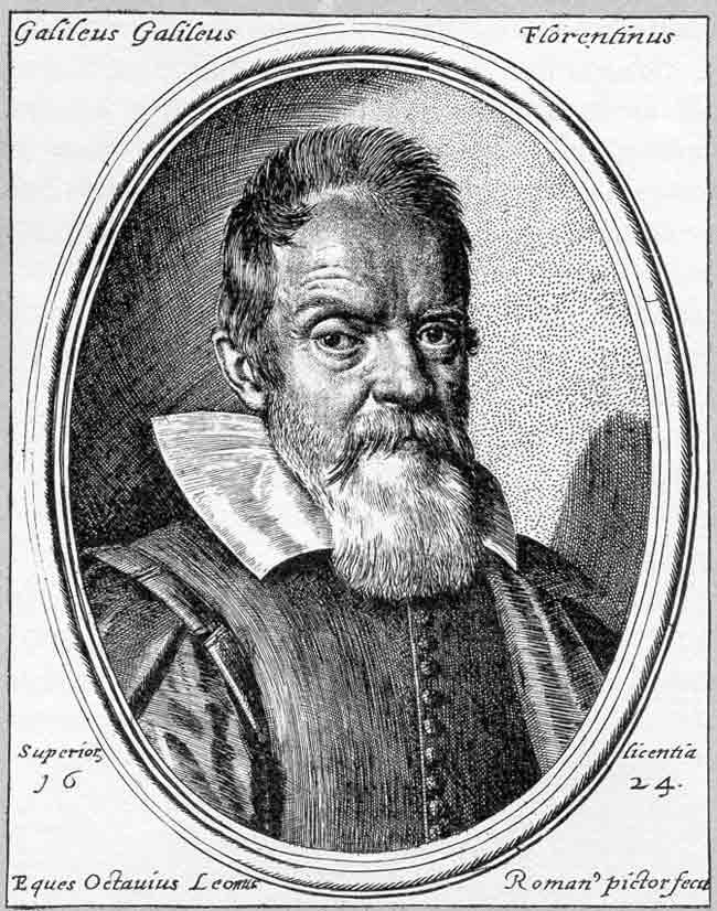 On attribue à Galileo Galilei la découverte des quatre premières lunes de Jupiter.