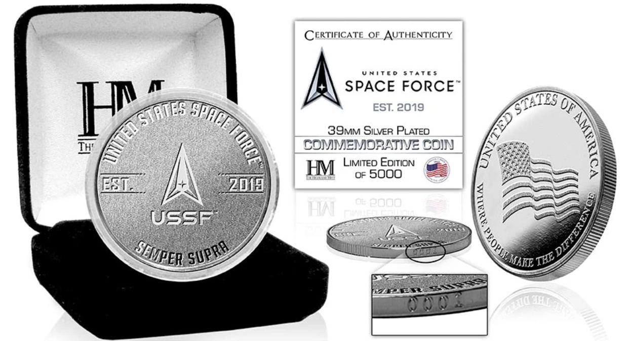 Le Space Store offre une authentique pièce d'argent officielle de l'US Space Force!