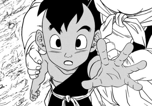 Uub fait don de son énergie à Goku pour vaincre Moro (Photo: Shueisha / Toei Animation)