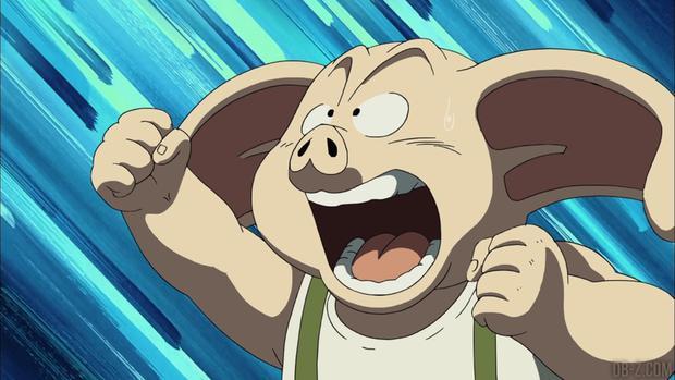 Le cochon Oolong a enlevé des femmes d'un village pour en faire ses épouses.  Plus tard, il a collaboré avec Goku et ses amis, (Photo: Toei Animation)