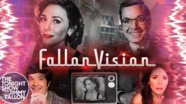 Fallonvision Spoofs Wandavision Sur The Tonight Show Avec Elizabeth Olsen