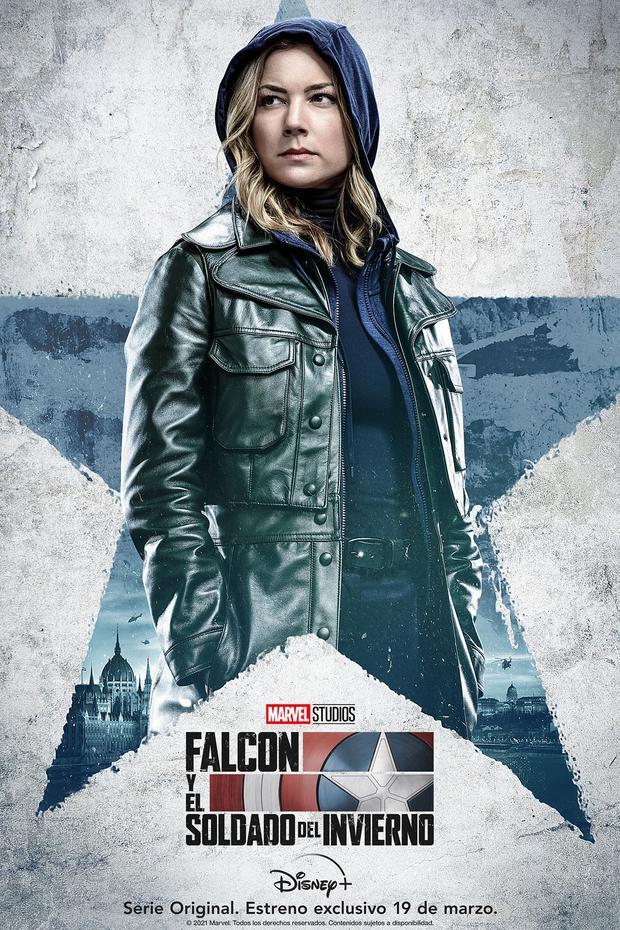 L'agent Sharon Carter a fait ses débuts dans l'univers cinématographique Marvel et réapparaît maintenant dans cette minisérie Marvel tant attendue sur Disney +.  |  Crédit: Disney / Broadcast
