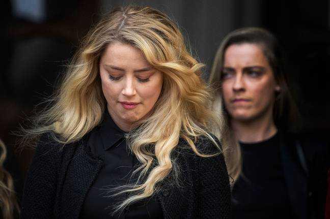Amber Heard devant la Haute Cour l'année dernière.  Crédit: PA