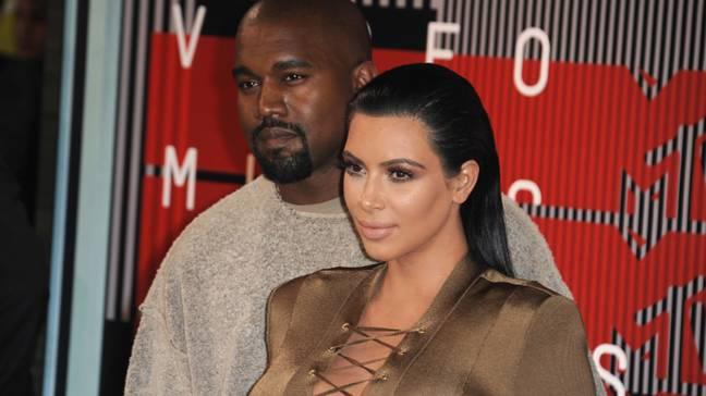 Kim et Kanye l'ont arrêté.  Crédit: PA