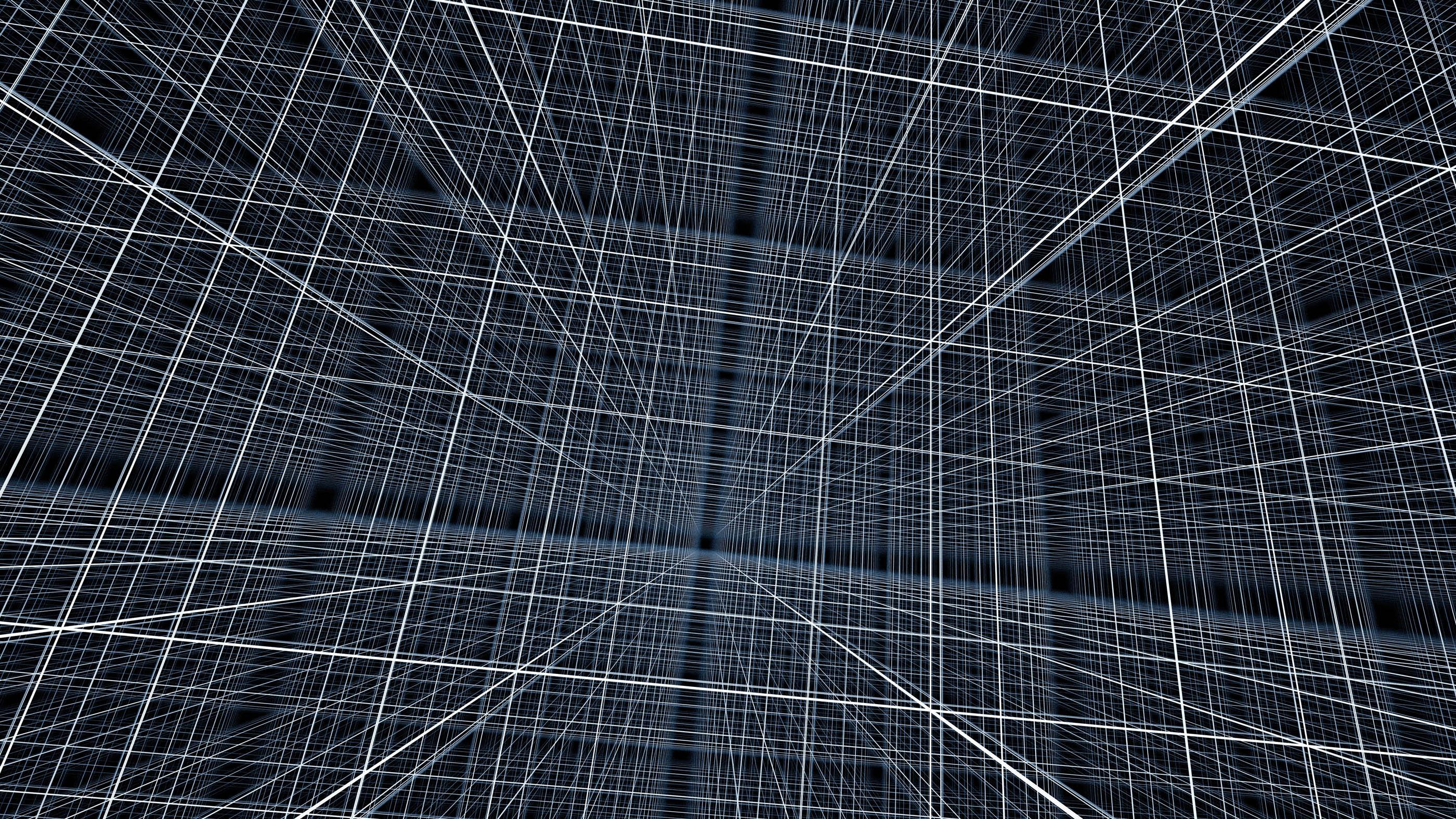 Une grille ou un treillis multidimensionnel.