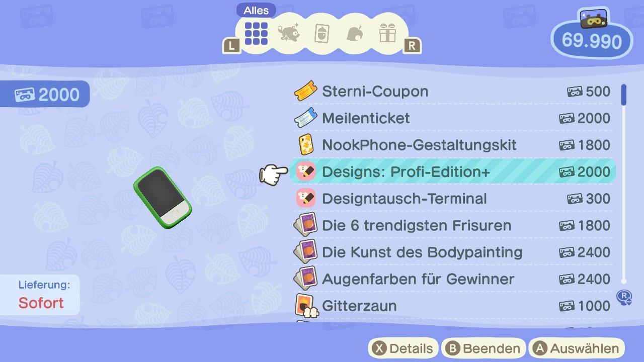 Animal Crossing: New Horizons Designs Pro Nouveau
