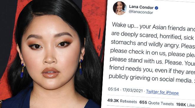Lana Condor partage le puissant tweet `` Stop à la haine asiatique ''
