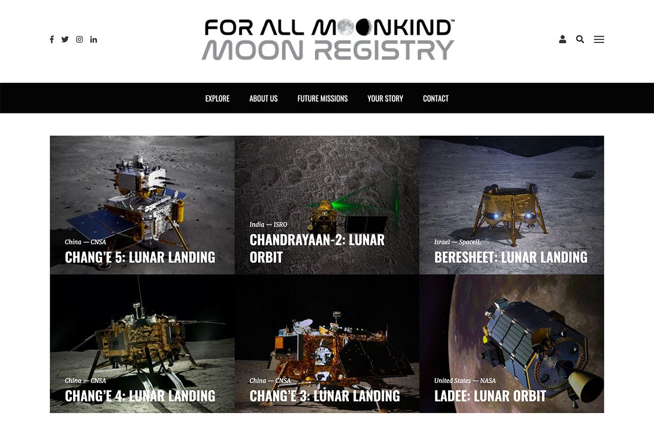 Le registre lunaire For All Moonkind répertorie toutes les missions robotiques et humaines qui ont laissé des objets à la surface.