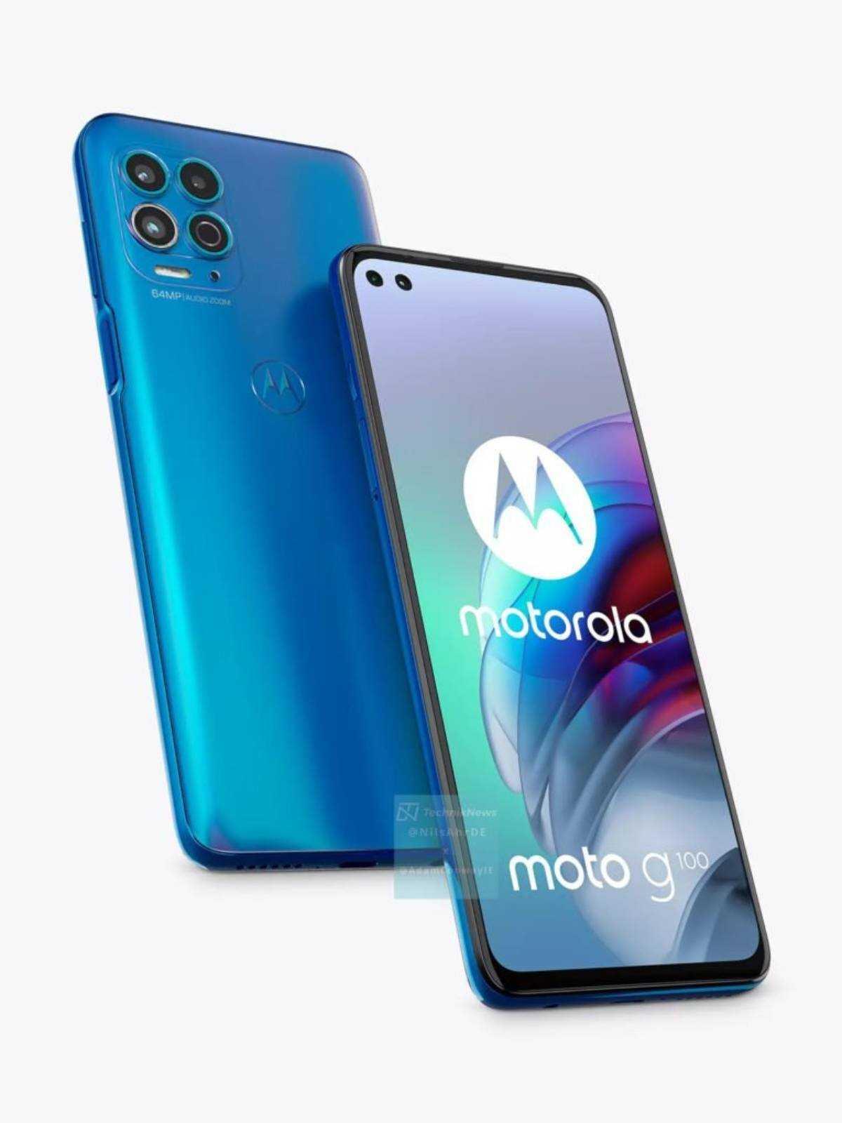 Le Motorola Moto G100 découvert