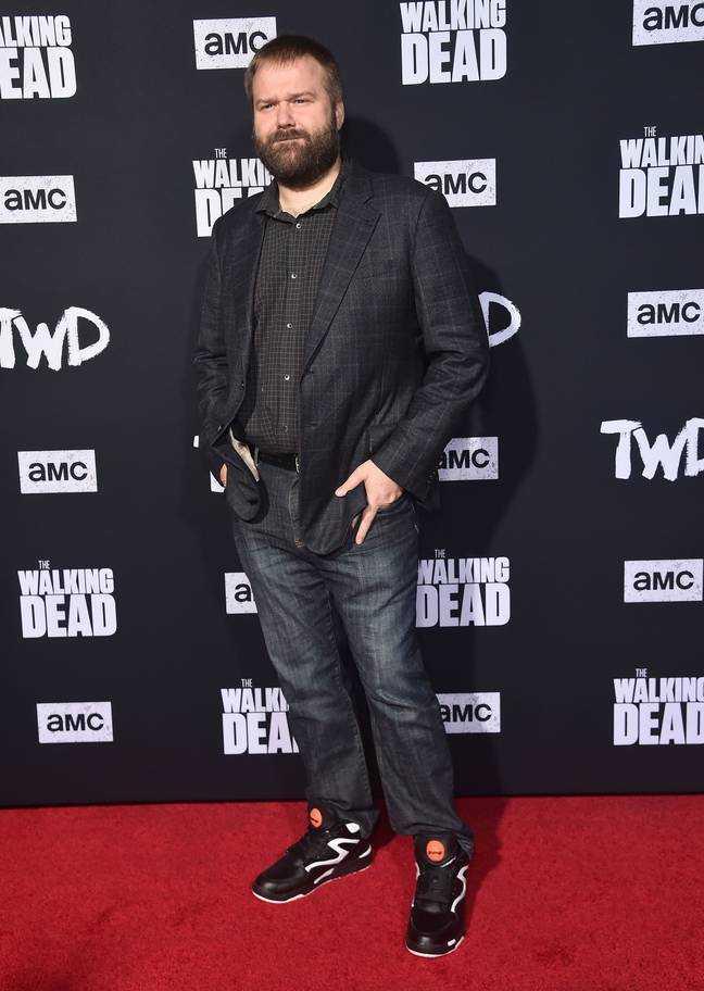 Robert Kirkman à la première de la saison 10 de Walking Dead.  Crédit: PA