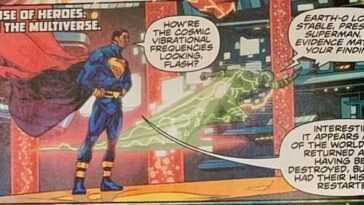 Le président Superman dans Infinite Frontier # 0.  Crédit: DC