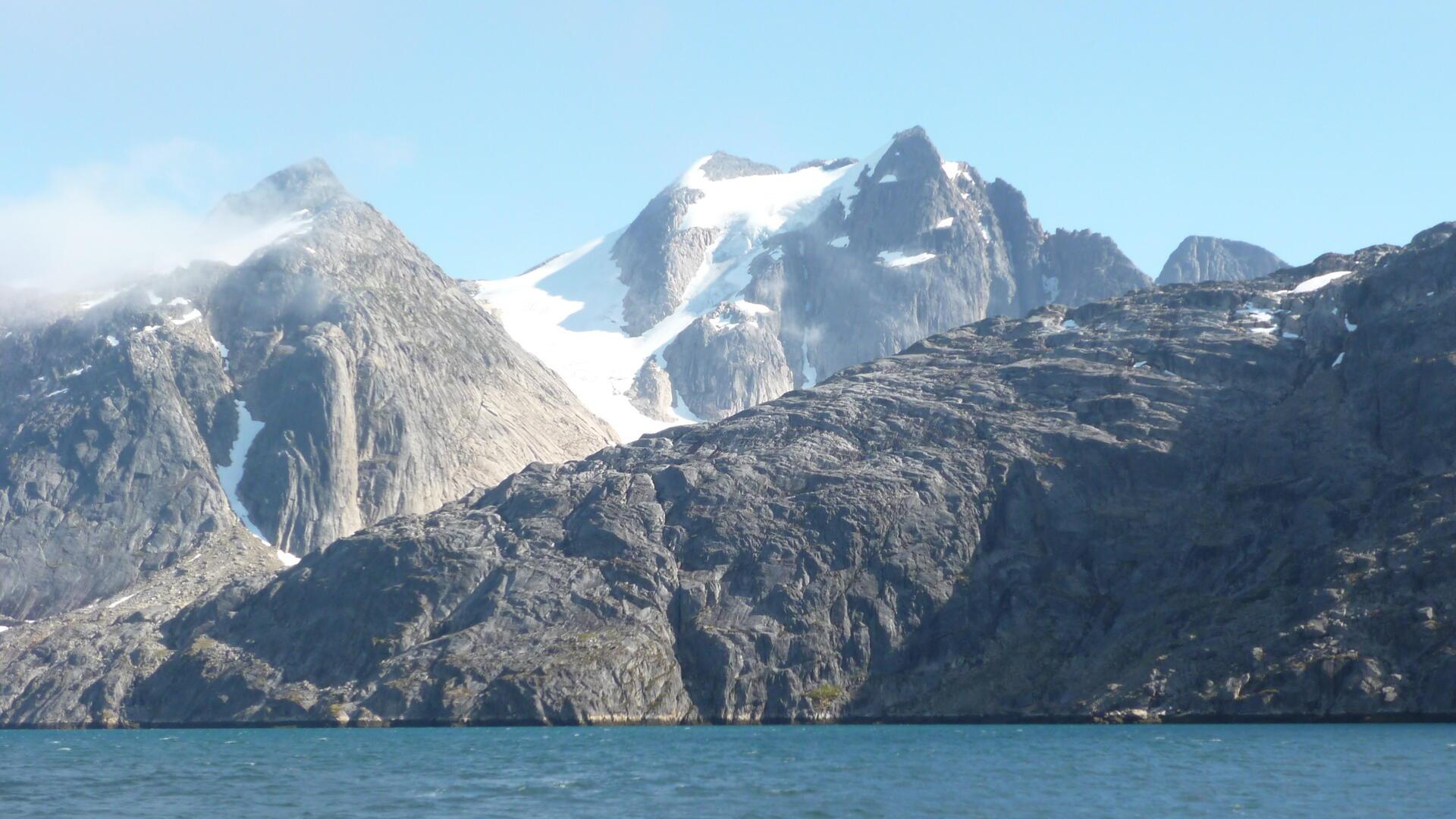Une partie de la structure Maniitsoq dans le sud-est du Groenland.