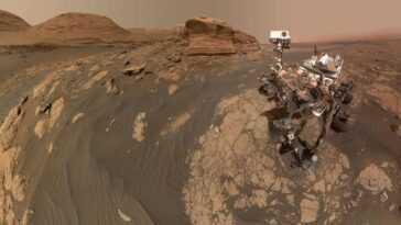 Le Rover Curiosity Sur Mars Partage Un Panorama époustouflant, Un