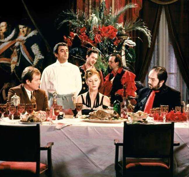 Le cuisinier, le voleur, sa femme & AMP;  Son amant.  Crédit: Palace Pictures / Miramax