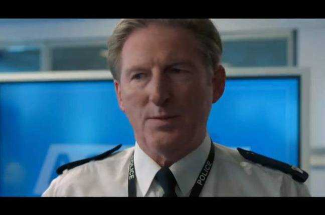 Adrian Dunbar comme Ted Hastings.  Crédit: BBC One