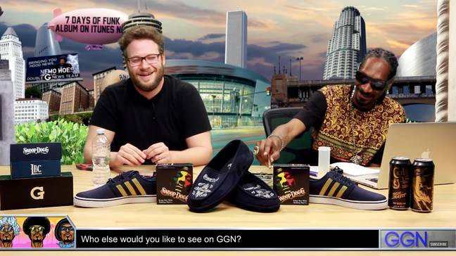 The couple have been friends for some time, but Rogen had never seen the creative process before.  Credit: YouTube