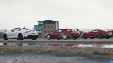 Trois Toyota Supra, Une Course De Dragsters. Quel Est Le