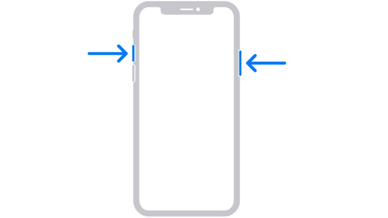 iPhone sans capture d'écran du bouton d'accueil