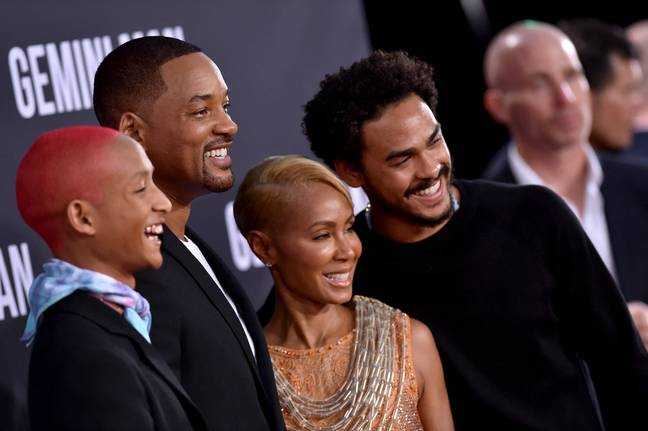 Jaden Smith, Will Smith, Jada Pinkett Smith et Trey Smith.  Crédit: PA