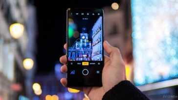 La caméra d'un mobile realme