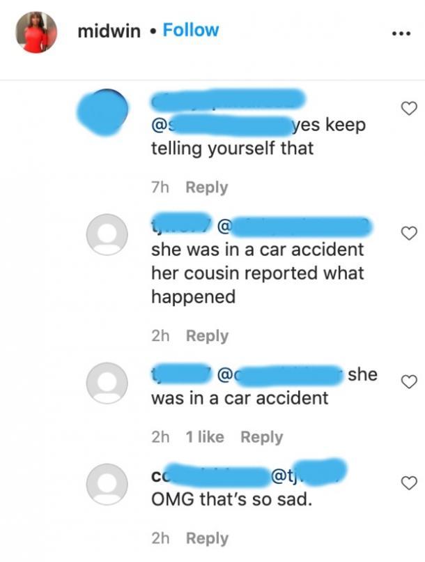 rumeur d'accident de voiture midwin charles