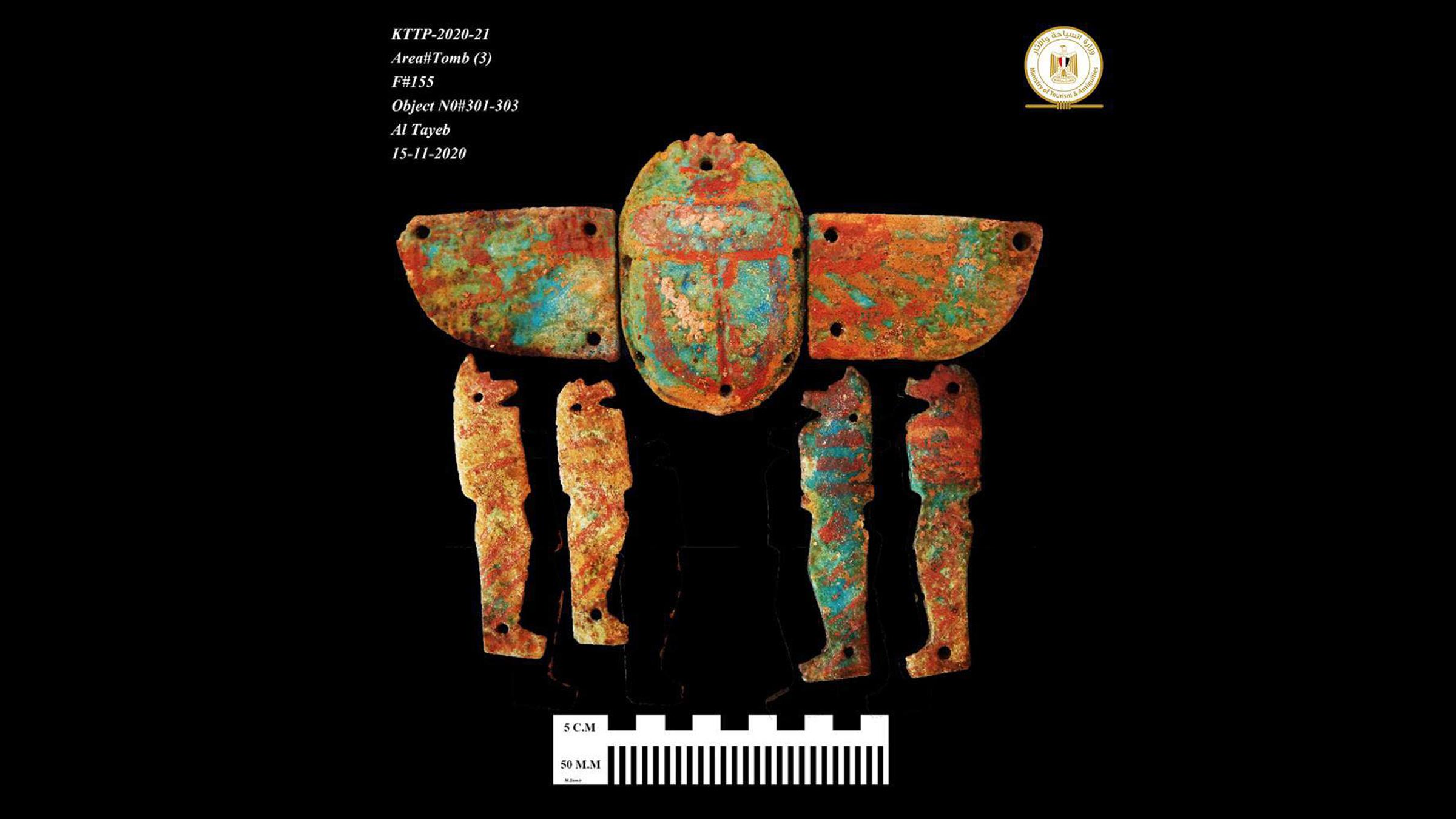 Un artefact peint trouvé sur le site.