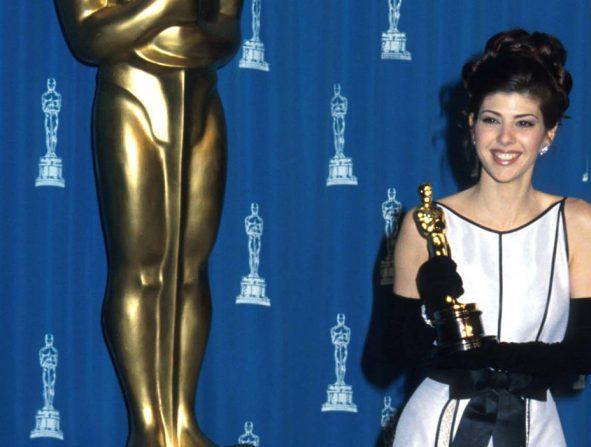 Marisa Tomei avec l'Oscar a remporté en 1993. Photo: (Getty)