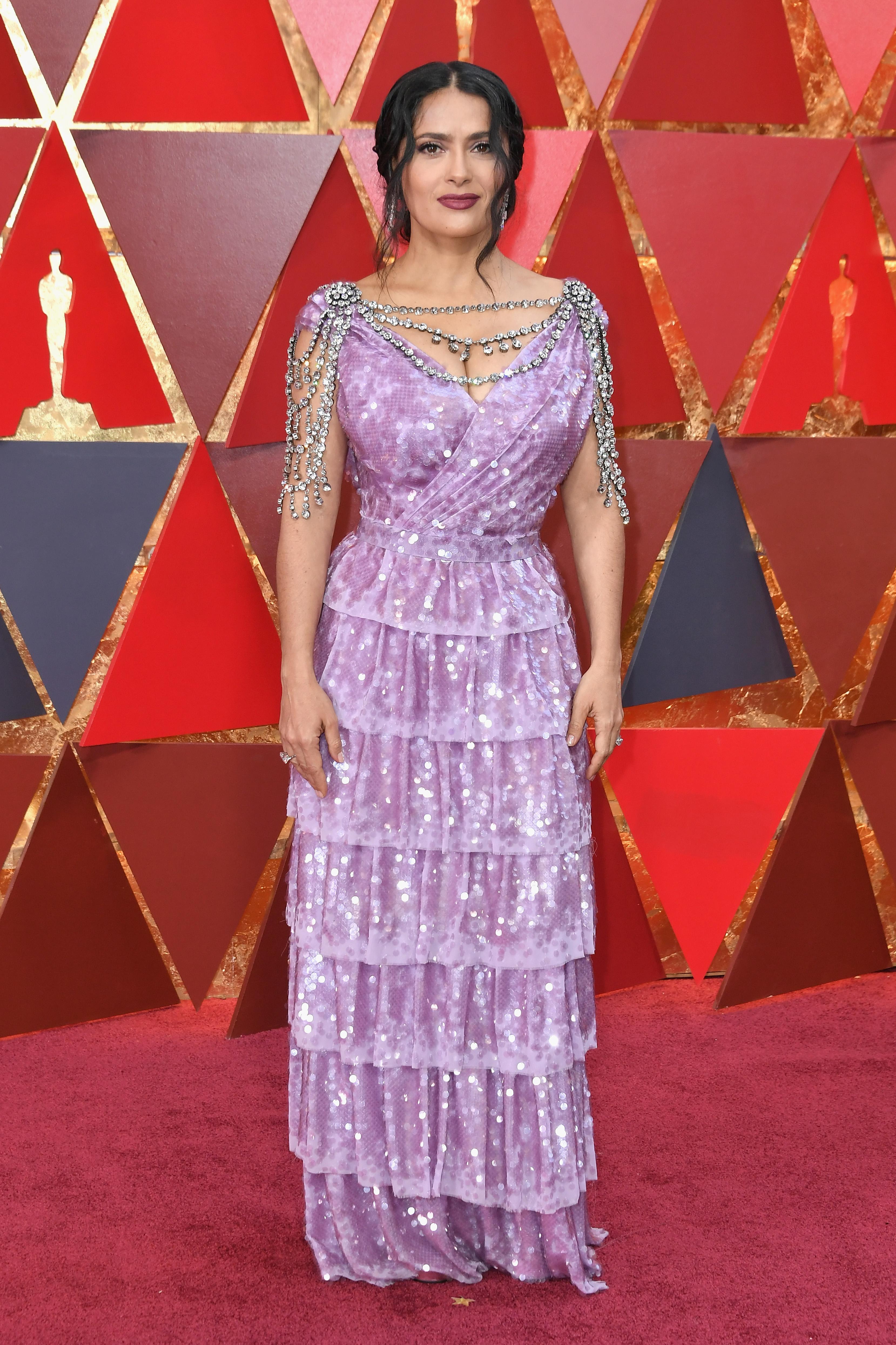 Salma Hayek aux Oscars 2018. Photo: (Getty)