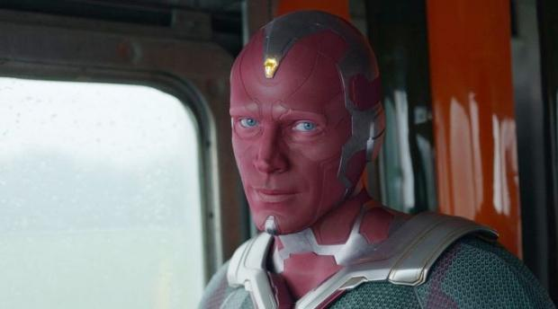 Vision est un synthezoïde fait de vibranium, créé par Ultron avec l'aide d'Helen Cho, et animé par le puissant artefact connu sous le nom de Mind Stone.  (Photo: Disney +)
