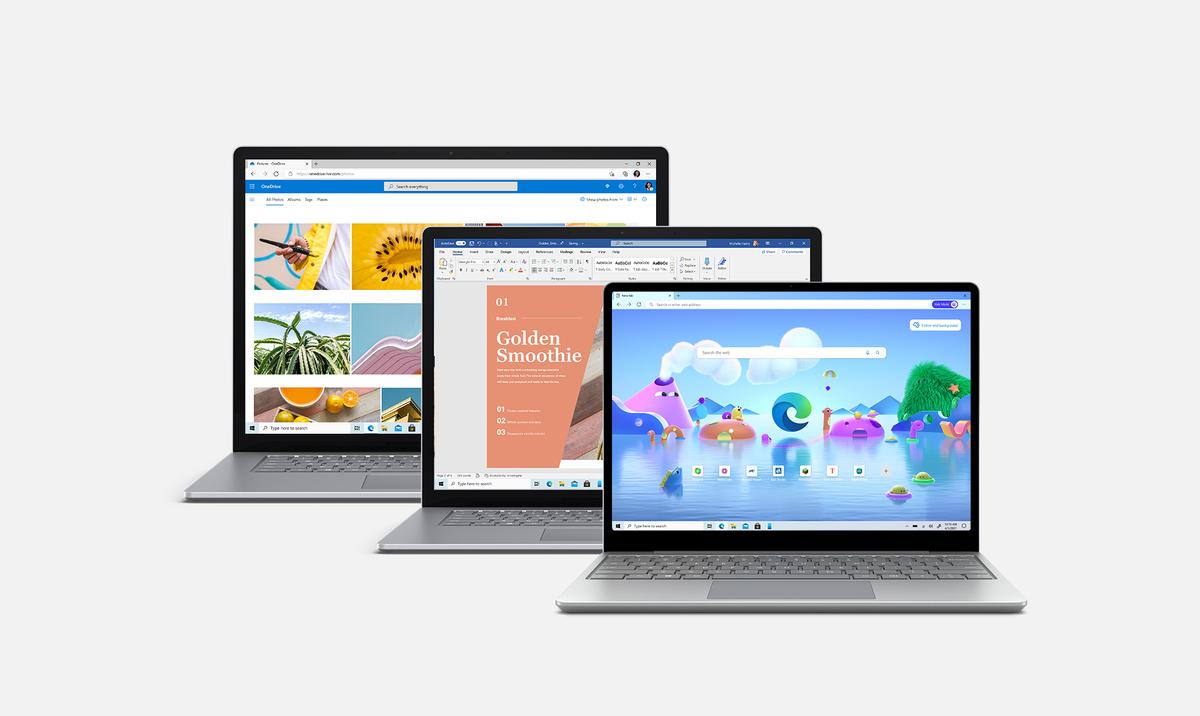 Famille d'ordinateurs portables Microsoft Surface