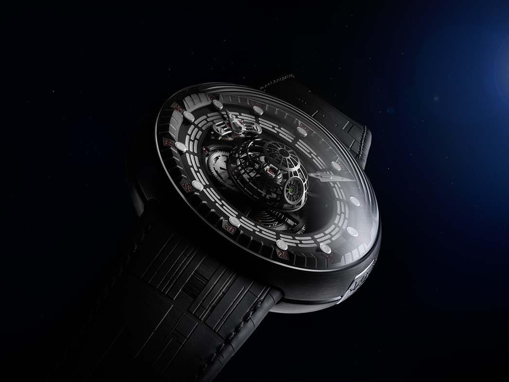 L'étoile de la mort de Star Wars veillera à ce que vous ne soyez jamais en retard avec cette ligne de montres Star Wars Death Star Tourbillon de 150000 $ de Kross Studios.