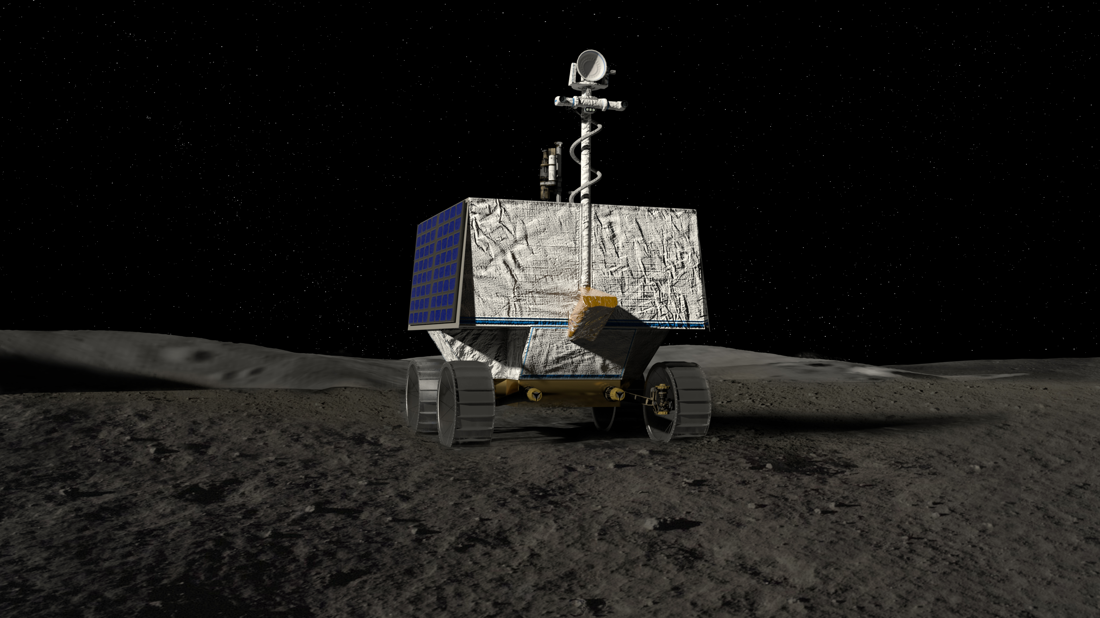 Représentation d'artiste du vaisseau spatial VIPER Moon.