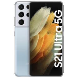 Vue avant du Galaxy S21 Ultra 5G argent 1