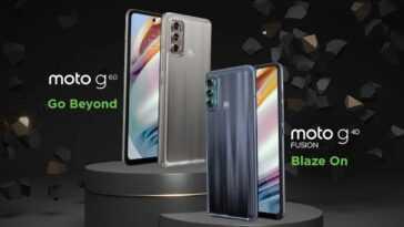 Motorola confirme le design des Moto G60 et Moto G40 Fusion en image officielle