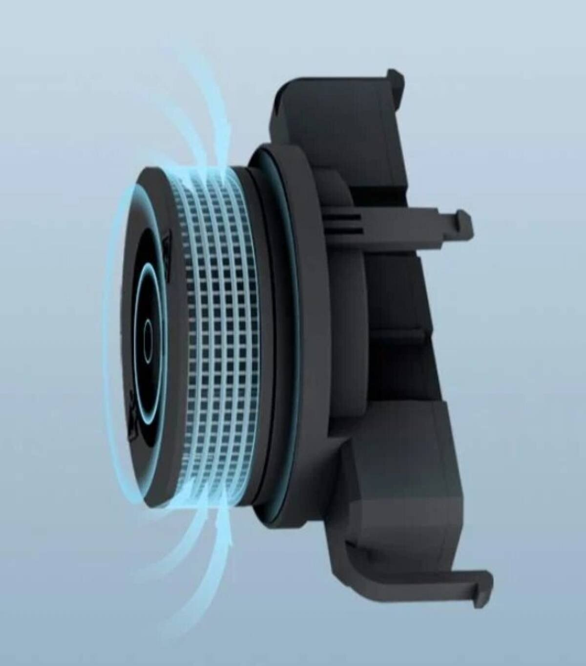 Le design intérieur du détecteur de fumée Xiaomi