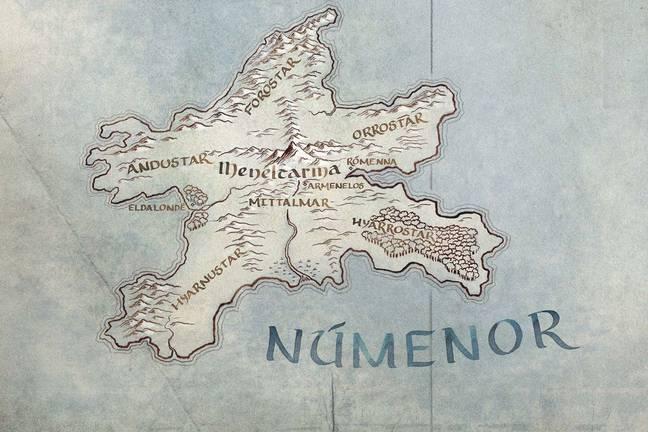 Le royaume de Numenor devrait figurer dans la nouvelle série.  Crédit: Amazon