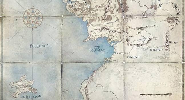 Une carte montrant certains des royaumes qui sont définis pour la fonctionnalité.  Crédit: Amazon