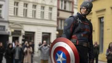 Ils montrent la bataille pour le bouclier de Captain America dans `` The Falcon and the Winter Soldier ''
