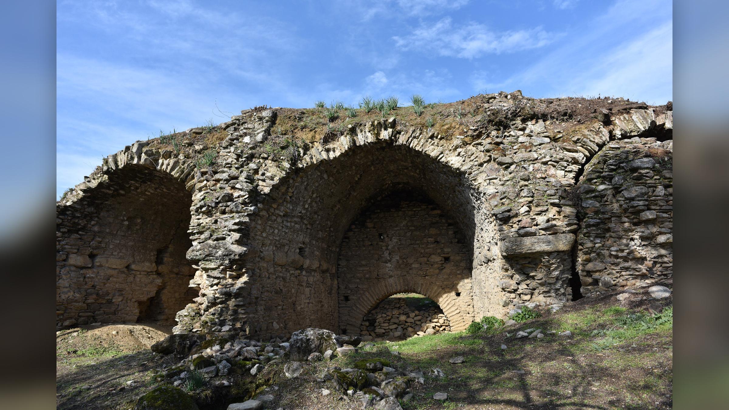 L'arène, après que les archéologues aient nettoyé la zone.