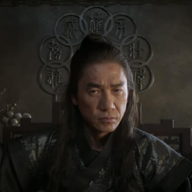 le symbole d'organisation des dix anneaux derrière le mandarin