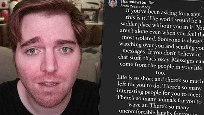 Shane Dawson Revient Sur Instagram Pour Partager Un Message émotionnel