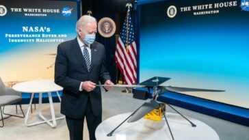 Le Président Biden Félicite L'équipe D'ingéniosité De L'hélicoptère Mars Pour