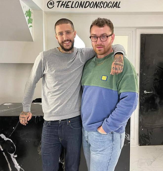 Sam Smith et le tatoueur Miles Langford