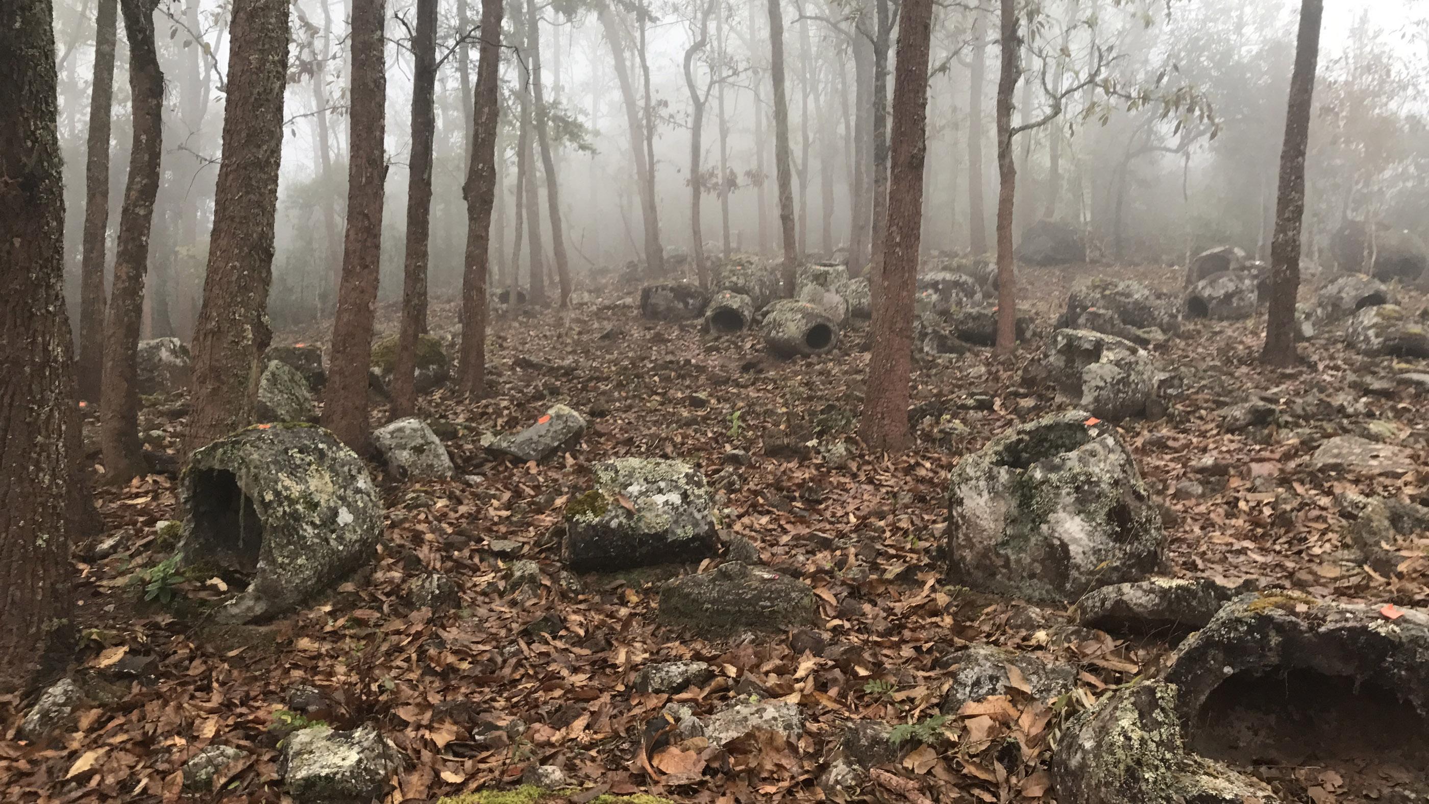 La région est connue sous le nom de Plaine des Jarres après le fond relativement plat de la vallée, mais la plupart des anciens sites de jarres en pierre se trouvent sur des collines et dans des forêts.