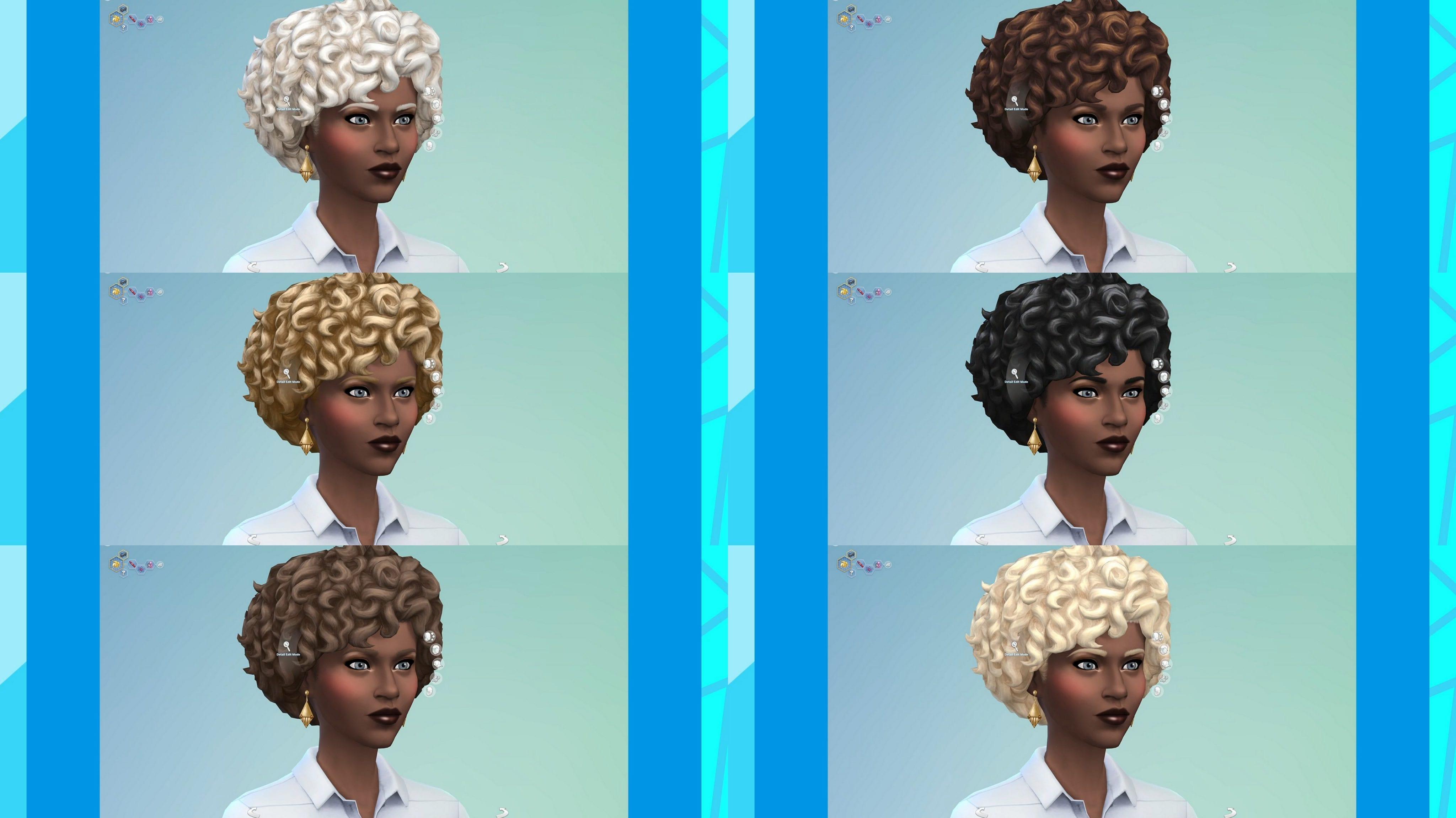 Mise à jour de la nouvelle couleur de cheveux des Sims 4