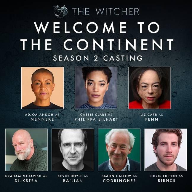 The Witcher saison 2 cast 'Twitter / Lauren S Hissrich
