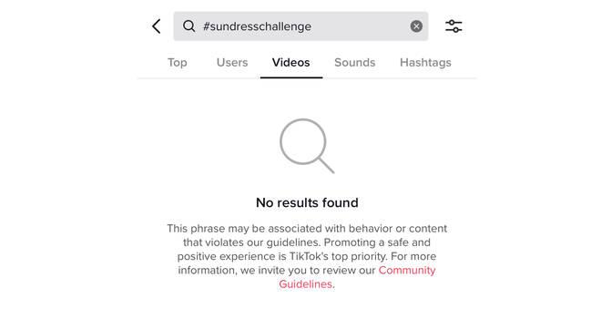 #SundressChallenge a été bloqué sur TikTok